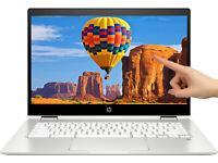 """NEW HP x360 14"""" HD Touch Intel N5000 4GB DDR4 128GB eMMC Webcam BT Chrome OS"""