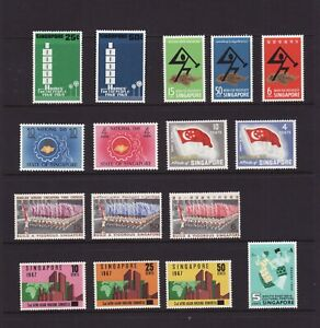 SINGAPORE 1960-69 Commemorative Issues x 6 Sets MINT Unhinged (L378)