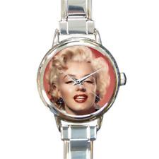 Marilyn Monroe pulsera con dijes Encanto Reloj rubia Bombshell agregar o quitar enlaces