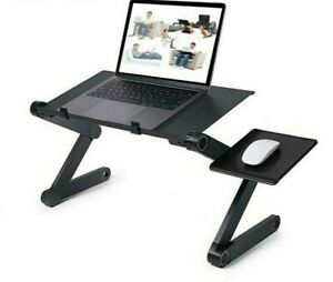 360° FOLDABLE Laptop Desk Stand Table PORTABLE Aluminum ADJUSTABLE Lap Bed Tray