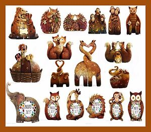 New Cute Entwined Wildlife Resin Animals Statute Ornament Photo Frames Kids Gift