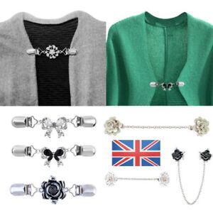 Women Retro Cardigan Shawl Brooch Duck Clip Clasps Sweater Blouse Shirt Pin UK