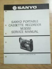 Sanyo Service Manual for the M3000 Cassette Recorder