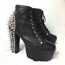 Jeffrey Campbell LITA Spike Black On Black Soft Leather Last Women US 6