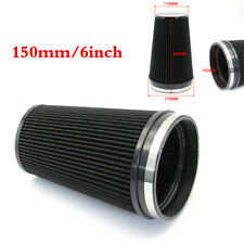 Black 6inch/150mm Inlet Car Air Intake Cone Replacement Quality Dry Air Filter