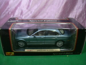 MAISTO 1/18 JAGUAR S-TYPE SPECIAL EDITION 1999 DIE-CAST METAL 4 OPENINGS W/BOX