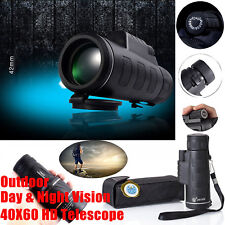 40X60HD Day&Night Vision Zoom Optical Monocular Hunting Camping Hiking Telescope