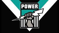 AFL Port Adelaide Power Large Retro LOGO Flag 60 x 90 cm (NO STICK/FLAG POLE)