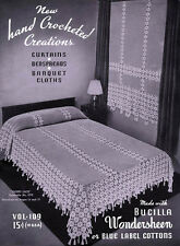 Bucilla #109 c.1936 - Hand Crochet Creations, Vintage Afghan & Curtain Patterns