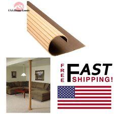 "Oak 96"" x 16"" Basement Column Cover Flexible Decorative Wood Moulding Floor Wrap"
