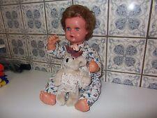 Wunderschöne Schildkröt Puppe Strampelchen 45 orig ca1945-1970