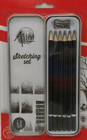 Creative Artist Bleistiftset Zeichenbleistifte Bleistifte, 6er Set, 4H bis 4B