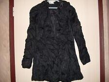Manteau à capuche - noir - taille 44 - tissu froissé permanent - neuf