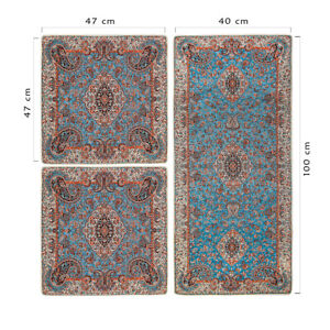 Luxury Table Cloth Paisley Quality Persian Handmade Termeh Silk Runner 3 Pieces