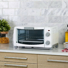 NEW SEALED BOX 4-Slice 1000W Toaster Oven w/ Pan & Baking Dishwasher Safe Rack