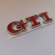 VW GTI GOLF EMBLEM 15-19 REAR TRUNK RED/CHROME BADGE sign symbol logo letters