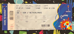 2019 FIFA WOMENS WORLD CUP FINAL TICKET STUB USA UNITED STATES SOCCER CHAMPS