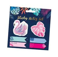 Tropical Sticky Note Set Flamingo & Palm Leaf Page Marker To Do Index Tabs CTSF