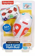 Fisher-Price Think,Learn Roll & Count Math Bug Teaching Toy 50+ Math Challenges