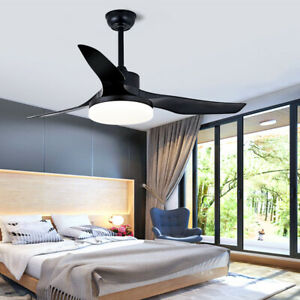 52'' Ceiling Fan With Light Remote Ceiling Fans 3 Blades