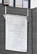 Adiroffice Grau Stahl Entwurf Pläne Poster Aufbewahrung Kabine Wand Rack W/