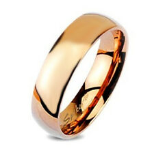 Rose Gold Tungsten Band Ring By Spikes Size 5