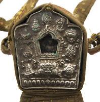 Ghau Gau Tibetain-Autel Tempio Da Viaggio Jan Bodhisattva Chenresig 8975 Aa