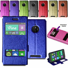 For Nokia Lumia 830 Stylish Ultra Slim Flip Wallet Case Stand Cover + Screen
