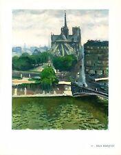 Albert Marquet,Abside de Notre Dame,Offset Lithograph1942,Plate Nr.10.Unsigned