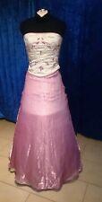 Abendkleid Cocktailkleid Ballkleid  gr. 34 rosa-creme B-A-5