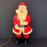 Vintage Union Santa Claus Blow Mold Hard Plastic Light Up Christmas 1950s