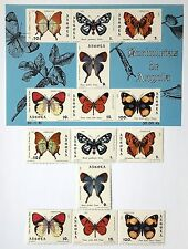 Angola MNH Butterflyes 1981 7 post stamp block