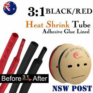 Marine Grade Heatshrink Red Black Glue Inside Heat Shrink Tubing Kit Fast Wrap