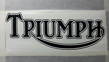 TWO X TRIUMPH TANK STICKERS PAIR CAR VAN BIKE MOTOR BIKE DECAL MANYCOLOURS