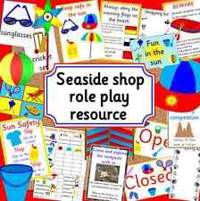 Seaside SHOP gioco di ruolo CD-eyfs / KS1-Risorsa Insegnamento