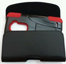 FOR LG G Flex XL HOLSTER BELT CLIP LOOP POUCH FIT WITH A HYBRID CASE On Phone