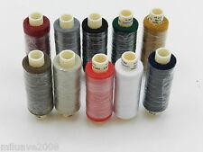 10 Bobinas tubos de hilo 100% poliester 250 mts surtido de colores básicos