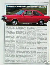 AUDI-NSU 80 & 100 Coupe S Data / Spec Sheet / Article with brochure?info