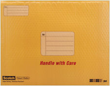 """""""NEW"""" SCOTCH SMART MAILER 4 PACK SIZE 7 PADDED ENVELOPE  14.25"""" X 19.5"""" -YELLOW"""