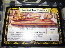 HARRY POTTER TCG QUIDDITCH CUP NIMBUS TWO THOUSAND 16/80 RARE ENGLISH MINT