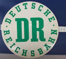 Aufkleber Sticker DR Deutsche Reichsbahn DDR rund transparent grün 22 cm å√