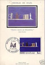 2364+ FDC CARTE 1er  JOUR SUR SOIE NICOLAS  DE  STAEL