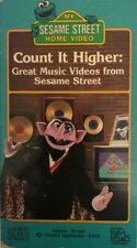 MY SESAME STREET-COUNT IT HIGHER:GREAT MUSIC VIDEOS(VHS 1988)TESTED-RARE-SHIP24H