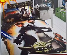 ~ Star Wars - CLONE WARS SINGLE DOONA DUVET QUILT COVER Luke & Yoda Rare
