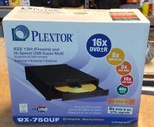 Plextor PX-750UF - DVD±RW (±R DL) / DVD-RAM drive - Hi-Speed USB/IEEE 1394