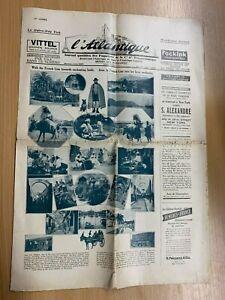 29 OCTOBER 1930 L'ATLANTIQUE WESTBOUND HUGE ILLUSTRATED NEWSPAPER