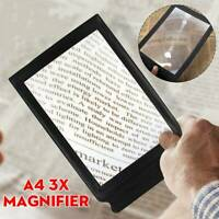A4 Full Page Magnifier Sheet LARGE Magnifying Glass Reading Aid Lens 3X Big ~