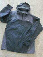 Women's COLUMBIA Jacket Black/Gray Hooded Full Zip Nylon/Polyester Size S