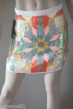 Marciano by Guess April Multicolor Sequin Embellishment Mini Skirt Size 4