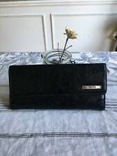KENNETH COLE BLACK LEATHER WALLET CC/BILLS/COIN MAGNETIC CLOSE SUPER SOFT URBAN